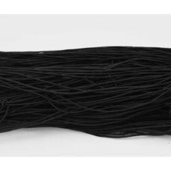 Gumizsinór, kalapgumi. 1mm. 27m/tekercs. Fekete.