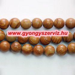 Ásványgyöngy, féldrágakő gyöngy. 10mm. Tigris jáspis