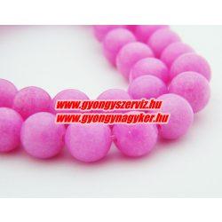 Jade ásványgyöngy. 8mm. Pink. AAA.