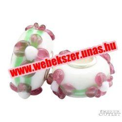 Pandora stílusú üveg gyöngy. Lámpagyöngy. 164359. Leárazva!