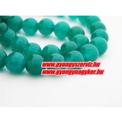 Jade ásványgyöngy. 8mm. Smaragd.