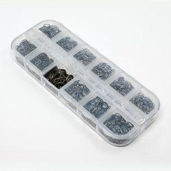 Nyitott szerelőkarika, 4-10mm. Fekete. + ajándék doboz!