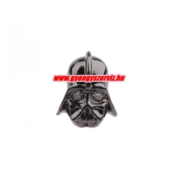 Cirkon köztes gyöngy. Dart Vader.  Fekete szín.