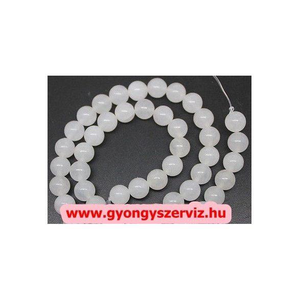 Jade ásványgyöngy. 8mm. Fehér. - Divat ékszer alapanyagok c9d644b66e