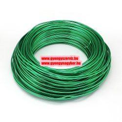 Alumínium ékszerdrót. 0.5-0.6mm. Zöld. 10m.