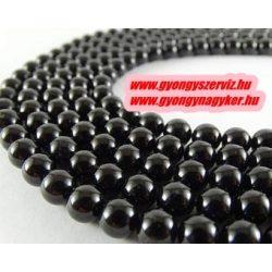 Fekete turmalin (sörl ) ásványgyöngy. 8mm.