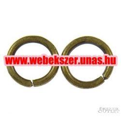Fém karika. 1.20x8mm. Antik bronz.    Legjobb ár!