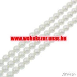 Shell pearl gyöngy. 10mm. Fehér.  Leárazva!