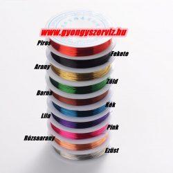 Réz ékszerdrót. 0.6mm. 6m. 10 színben. Válassz színt!