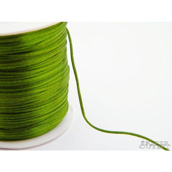 Shamballa fonal. Nylon fonal. 1.5mm. Sötét zöld.   Legjobb ár!
