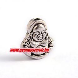 Buddha fém köztes gyöngy. 11x10x5mm. Antik ezüst szín.