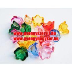 Vegyes virág, műanyag mix. 20db/csomag.