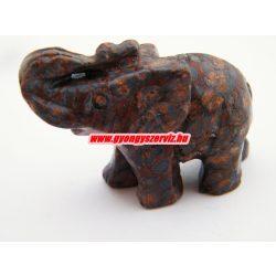 Leopárd jáspis ásvány elefánt.