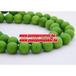 Jade ásványgyöngy. 8mm. Almazöld. AAA.