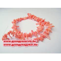 Korall gyöngy. 1 szál. Rózsaszín.