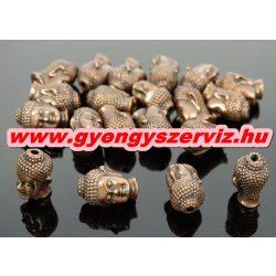 Buddha gyöngy, fém köztes gyöngy. Antik réz szín. 10x13mm.