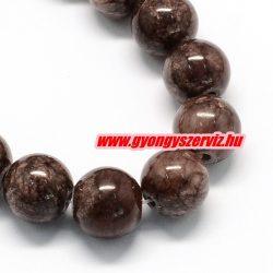 Jade ásványgyöngy. 8mm. Kókusz barna.