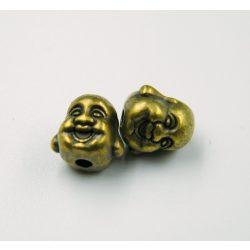 Mosolygó buddha köztes gyöngy. Antik bronz szín.