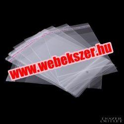 Ragasztócsíkos celofán zacskó. 80x160mm.1db, vagy 200db/csomag.