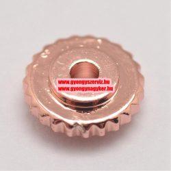 Rózsaarany színű fém köztes gyöngy. 6x2mm.