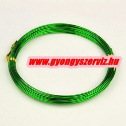 Alumínium ékszerdrót. 1mm. Zöld. 5m.