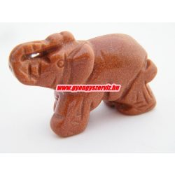 Barna napkő ásvány elefánt.
