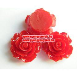 Ragsztható gyanta kaboson rózsa. 20mm. Bordó.
