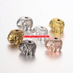 Elefánt köztes gyöngy. 10x11.5mm. 7 színben!