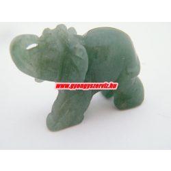 Aventurin ásvány elefánt.