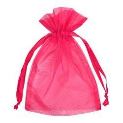 Organza tasak 12x9cm. Pink.1db, vagy 10db/csomag.
