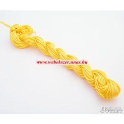 Shamballa fonal. Nylon fonal. 1.5mm. 12.5m. Okker sárga.   Legjobb ár!