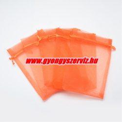 Organza tasak 12x9cm. Narancs.1db, vagy 10db/csomag.