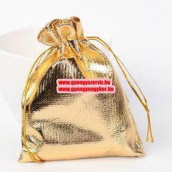 Organza tasak. 10x12cm. Arany. 1db, vagy 10db/csomag.