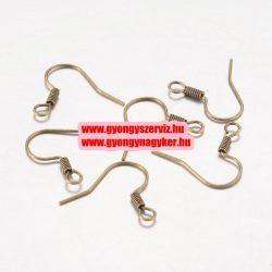 Fülbevaló alap, akasztos,  horog , antik bronz színű. 17x17x2mm. 1db.    Alacsony ár !