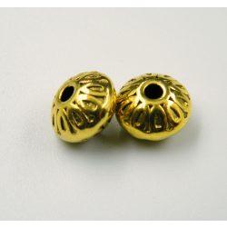 Diszkosz. Fém köztes gyöngy. 10x7mm. Antik arany szín.
