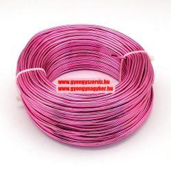 Alumínium ékszerdrót. 0.5-0.6mm. Sötét pink. 10m.
