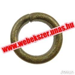 Fém karika. 0.90x5mm. Antik bronz.   Legjobb ár!