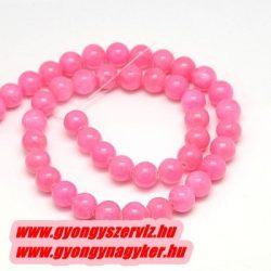 Jade ásványgyöngy. 10mm. Sötét pink.