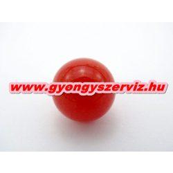 Vörös kalcedon gyöngy. Marokkő, harmónia gyöngy. 16mm.