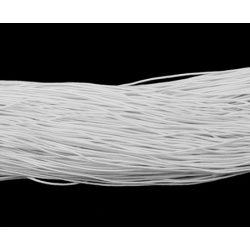 Gumizsinór, kalapgumi. 0.8mm. 27m/tekercs. Fehér.
