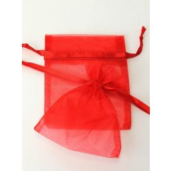 Organza tasak 12x9cm. Piros.1db, vagy 10db/csomag.
