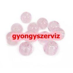 Lámpagyöngy, fóliás üveggyöngy. 10mm. Rózsaszín. Leárazva !