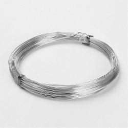 Alumínium ékszer drót. 2mm. platina szín. 3m.