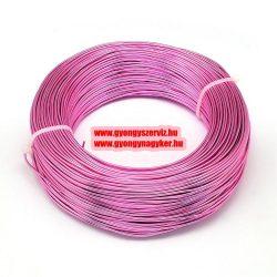 Alumínium ékszerdrót. 0.5-0.6mm. Pink. 10m.