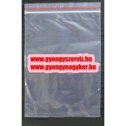 Simitózáras tasak. 12x8cm.1db, vagy 100db/csomag.