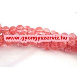 Cseresznyekvarc ásványgyöngy.  10mm.