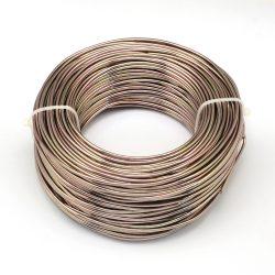 Alumínium ékszerdrót. 0.5-0.6mm. Barna. 10m.