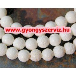 Fehér szivacskorall gyöngy. 10mm. Korall.