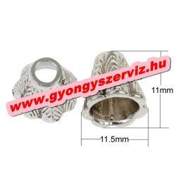 Gyöngykupak, fémgyöngy. Antik ezüst szín. 11.5x11mm