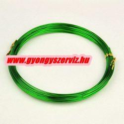 Alumínium ékszerdrót. 0.8mm. Zöld. 5m.